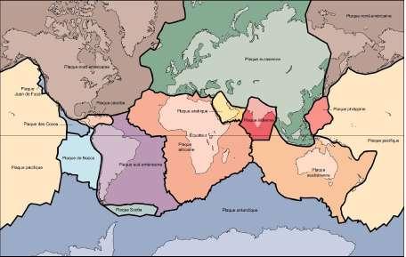 Subdivision de la Terre en plaques lithospheriques