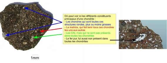 Caracteristiques des chondrites