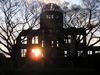 Hiroshima - Genbaku Dome at sunset