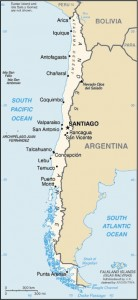 Chili seisme localisation de l'épicentre - Chile earthquake ecidenter location